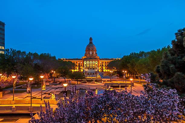 Palazzo del parlamento dell'Alberta - foto stock