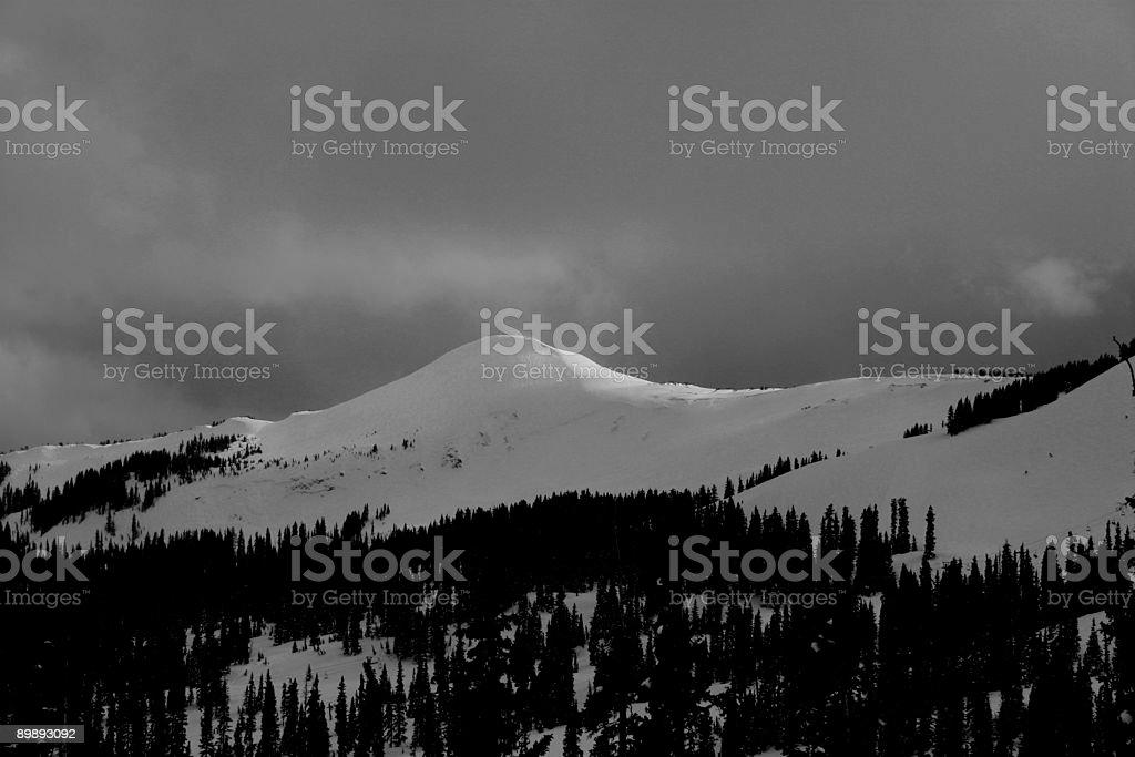 Alberta pico, Pagosa Springs, Colorado. foto de stock libre de derechos