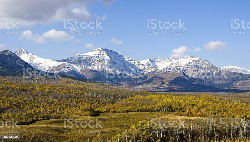 Alberta Prairie in the Fall stock photo