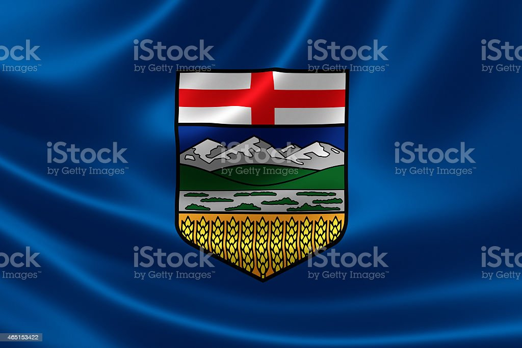 Alberta Provincial Flag of Canada stock photo