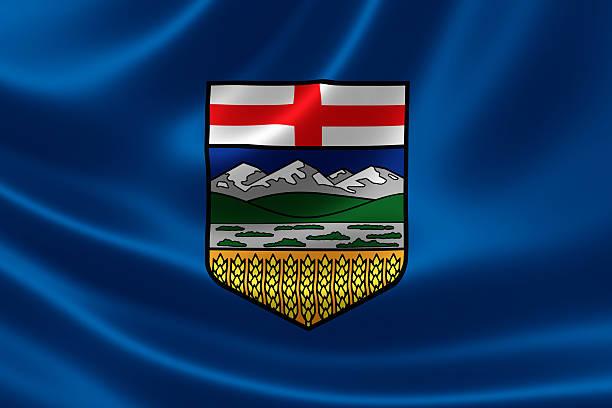 Alberta Provincial Flag of Canada stock photo