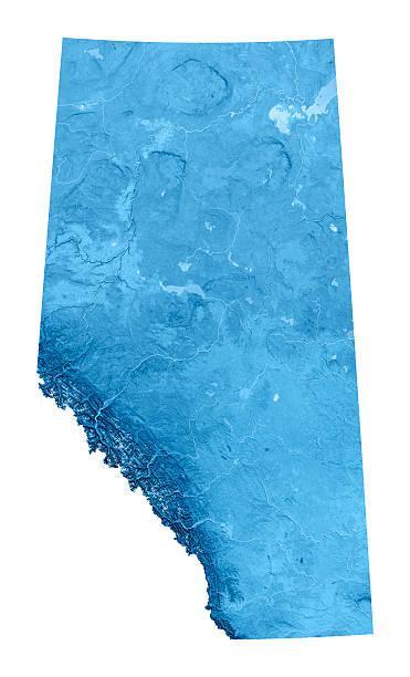Alberta Topographic Map Isolated stock photo