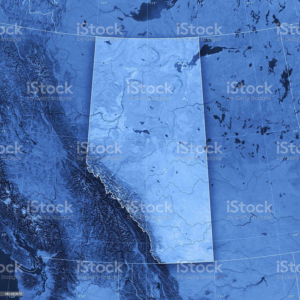 Alberta Topographic Map royalty-free stock photo