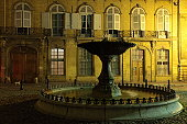 Night View of Albertas fountain in Aix-en-Provence