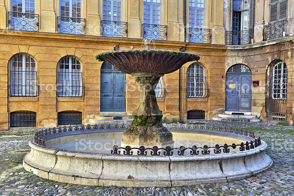 Albertas square, Aix-en-Provence, France. stock photo