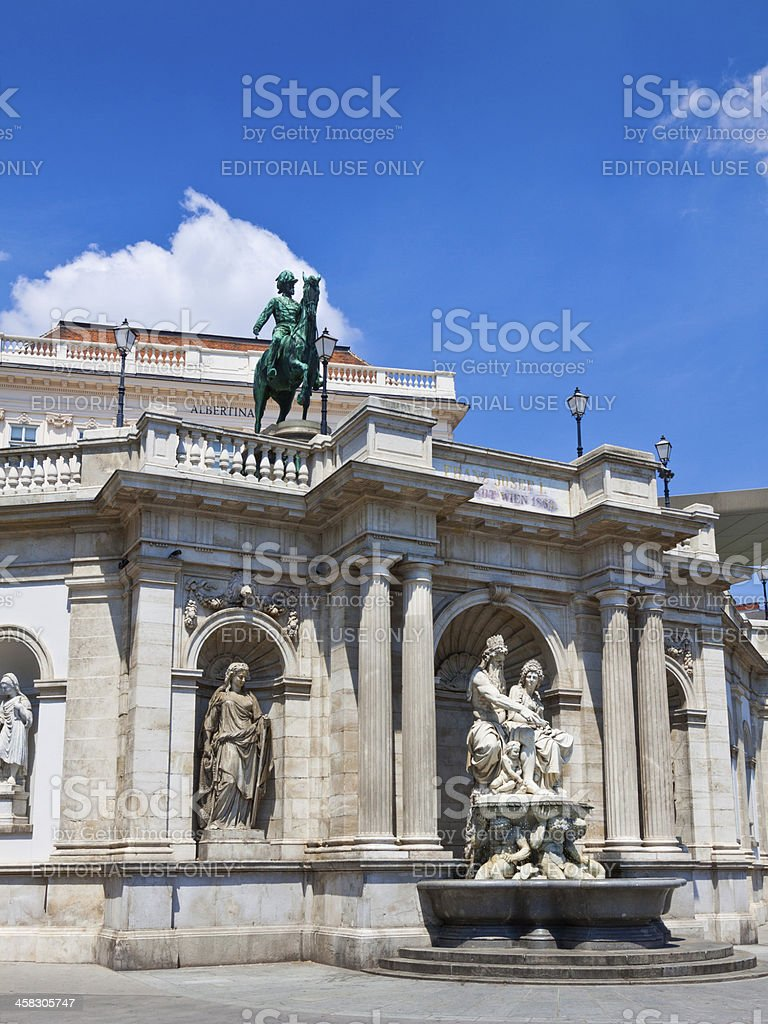 Albertina Museum in Vienna. royalty-free stock photo