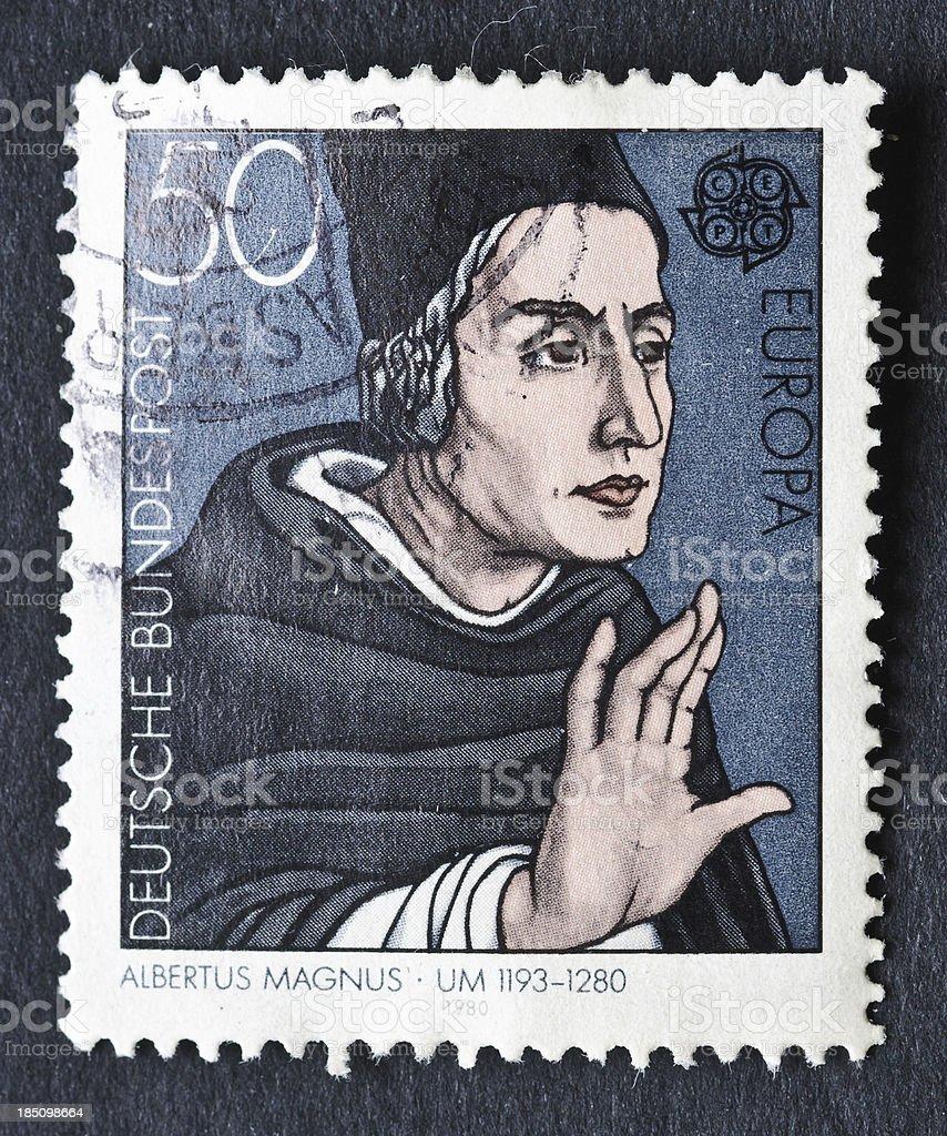 Albertus Magnus Stamp stock photo