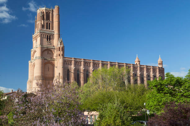 Albi Cathedral stock photo