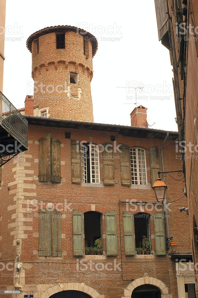 Albi (France) - Exterior of old buildings royalty-free stock photo