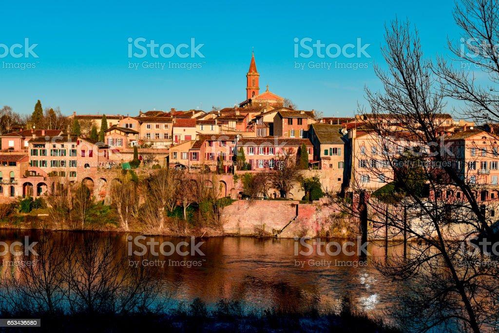 Albi, in France, and Tarn River stock photo
