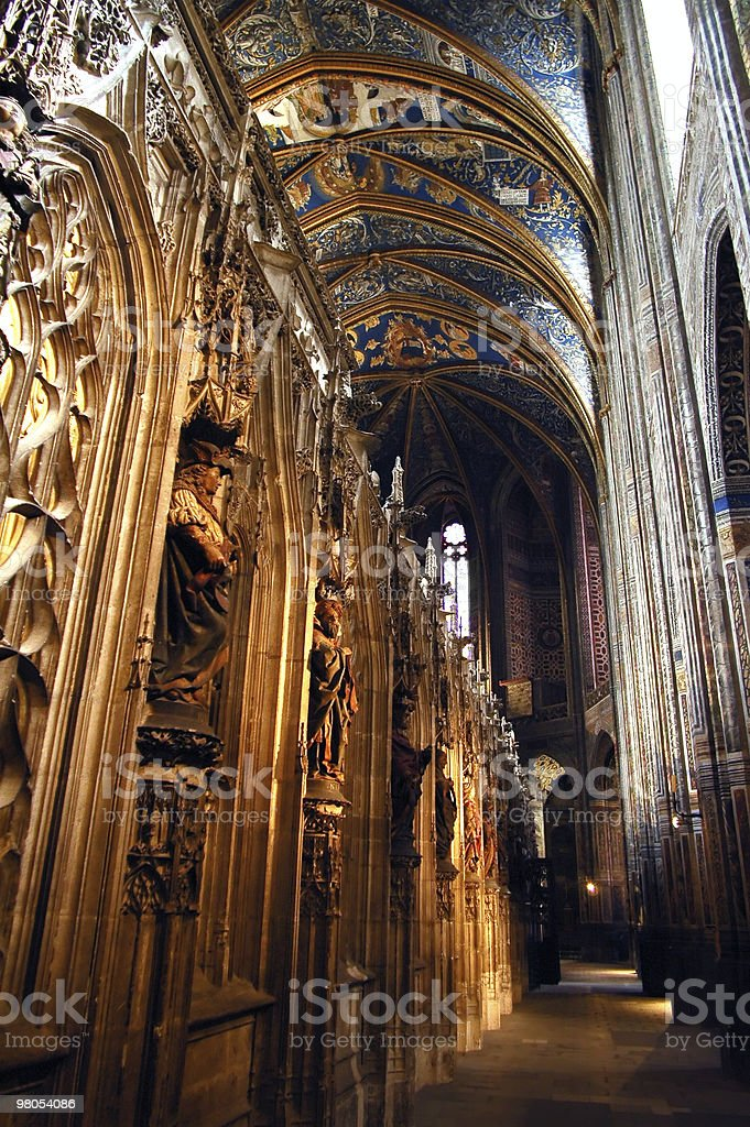 Albi - Interior of the cathedral stock photo