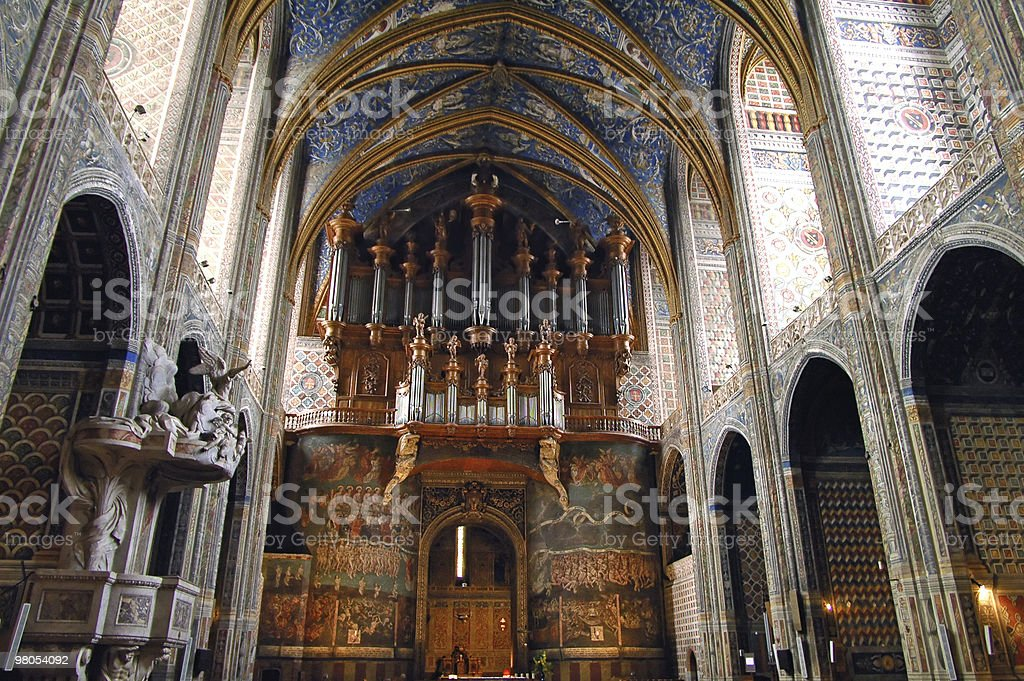 Albi (France) - Interior of the cathedral royalty-free stock photo