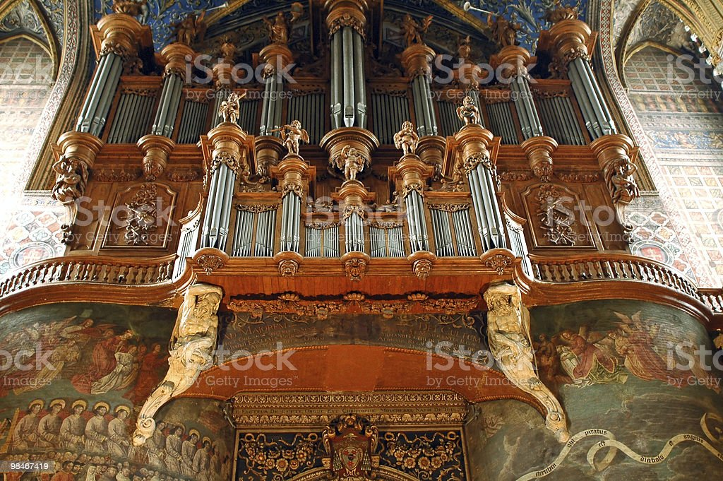 Albi (France) - The cathedral's organ royalty-free stock photo