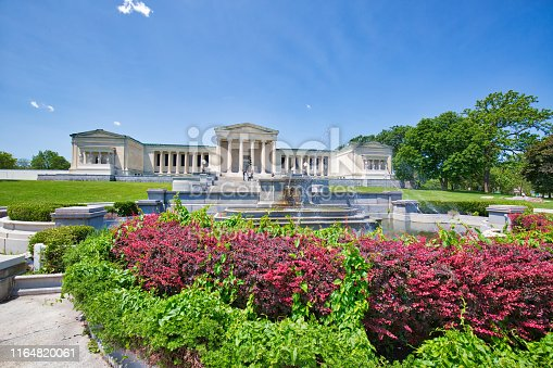 Buffalo, USA-20 July, 2019: Albright-Knox Art Gallery, a major showplace for modern art and contemporary art