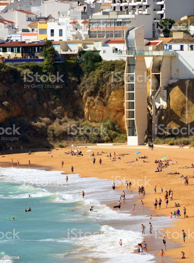 Albufeira, Algarve, Portugal - ascenseur plage Peneco - Photo