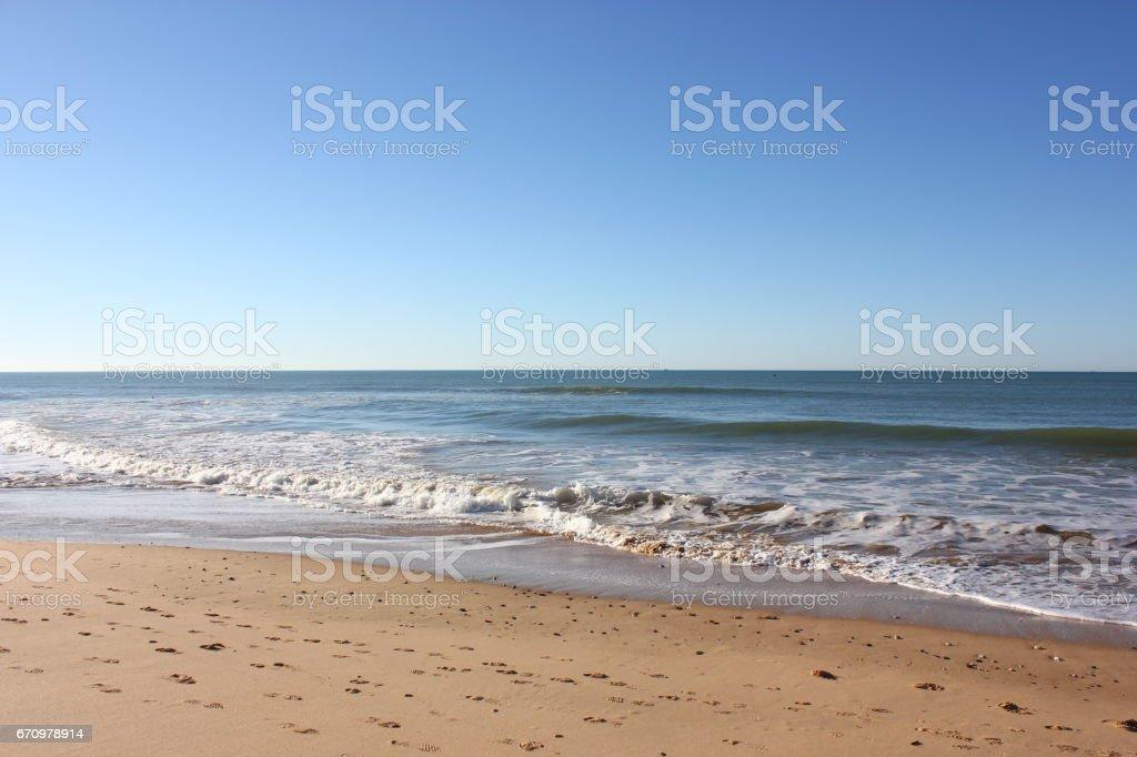 Albufeira Beach stock photo
