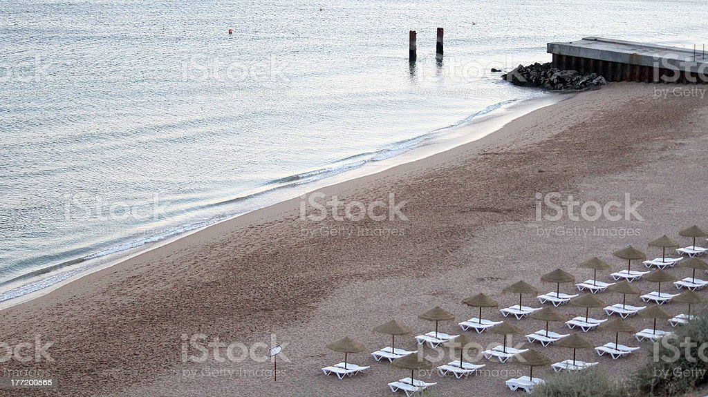 Albufeira fishermen beach scenario (Praia dos pescadores, Algarv royalty-free stock photo