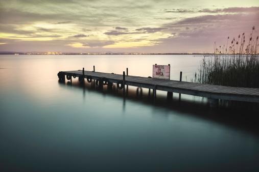 Albufera lake from Valencia Spain wetlands in mediterranean