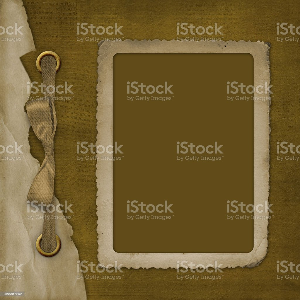 Album for photo with ribbon and bow royalty-free stock photo