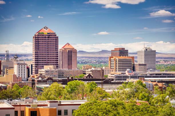 Albuquerque Downtown Cityscape New Mexico USA stock photo