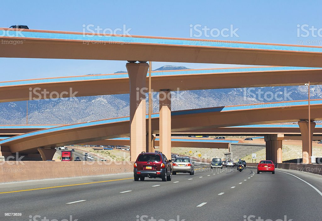 Albuquerque Interstate royalty-free stock photo