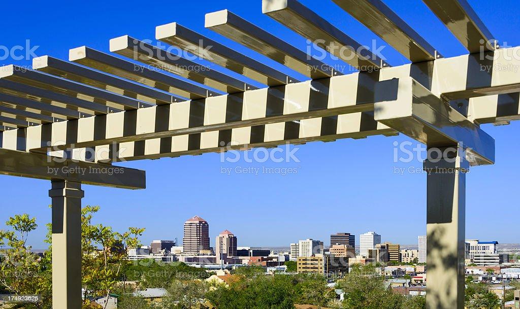 Albuquerque New Mexico downtown skyline royalty-free stock photo