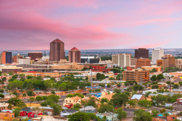 Albuquerque, New Mexico, USA Cityscape stock photo