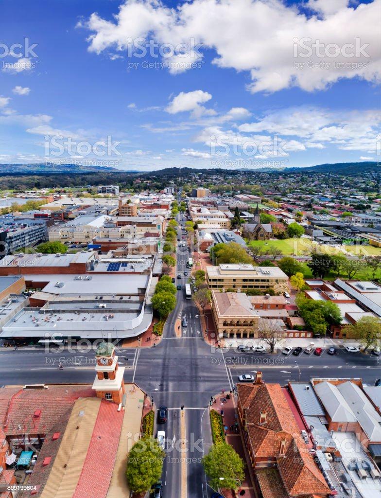 D Albury Vertical panorama stock photo