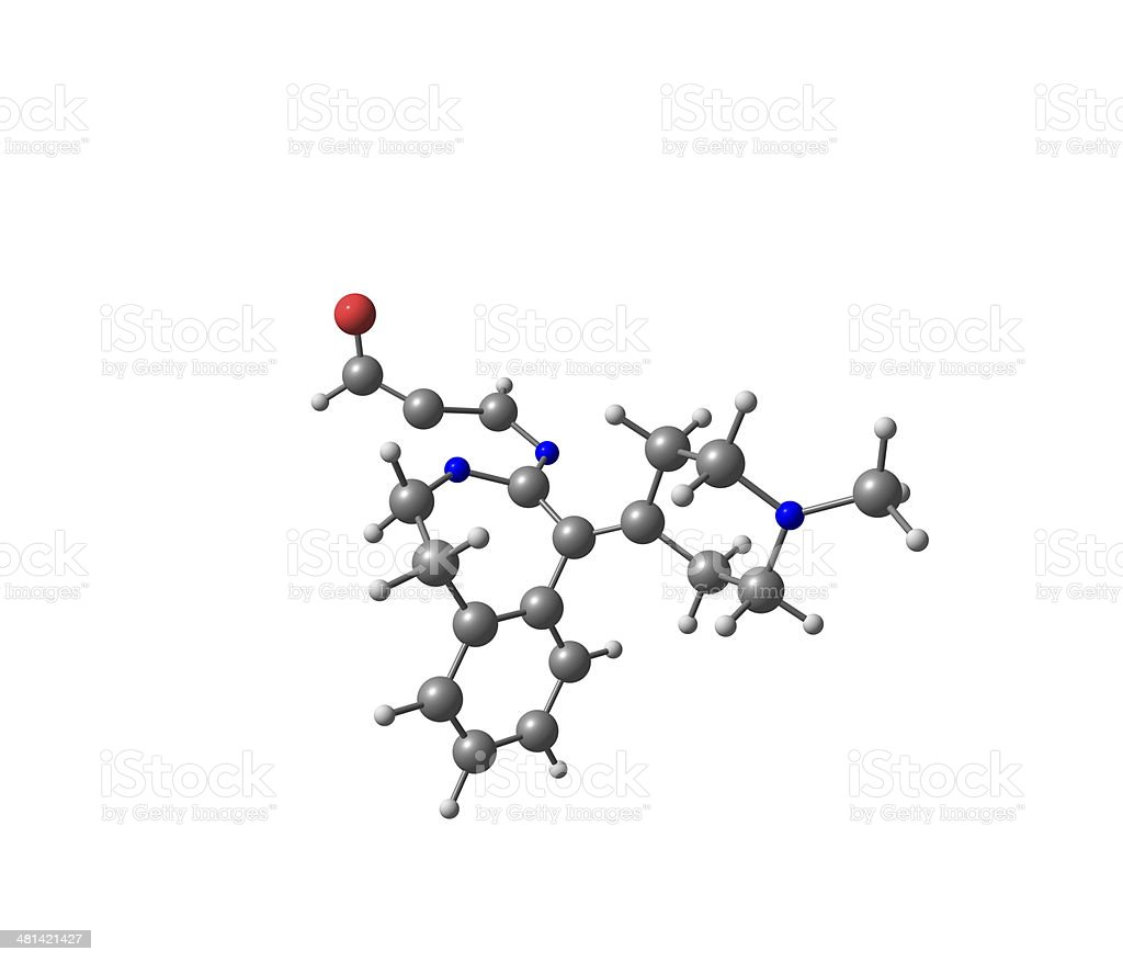 Alcaftadine molecular structure isolated on white stock photo