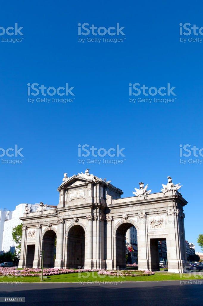 Alcala Gate, Madrid stock photo