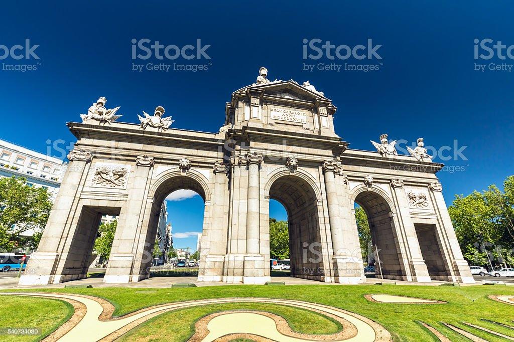 Alcala Gate Madrid stock photo