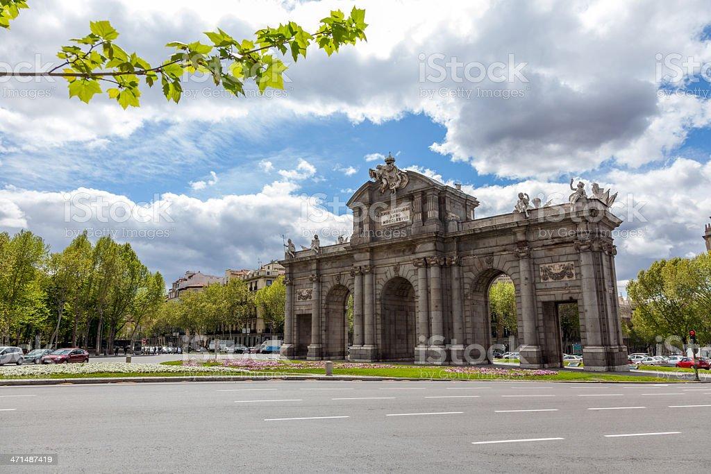 Alcala Gate, Madrid, Spain stock photo