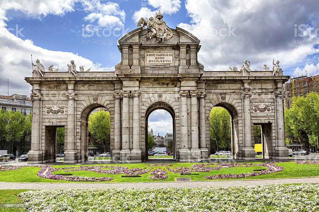 Alcala Gate Mardid Spain stock photo