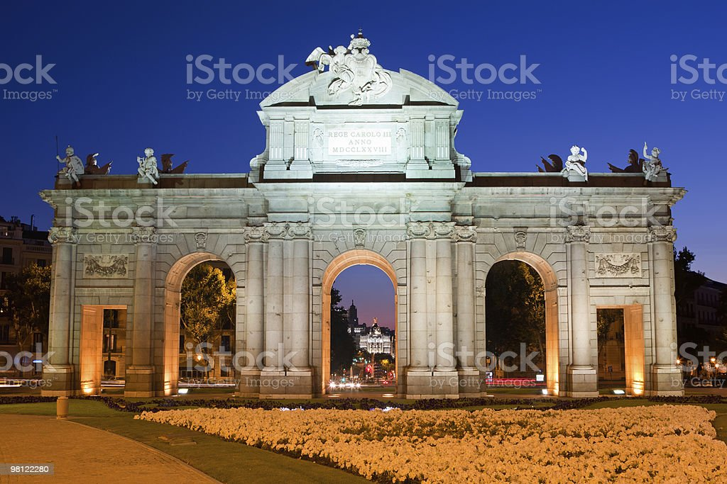 Puerta de Alcala royalty-free stock photo