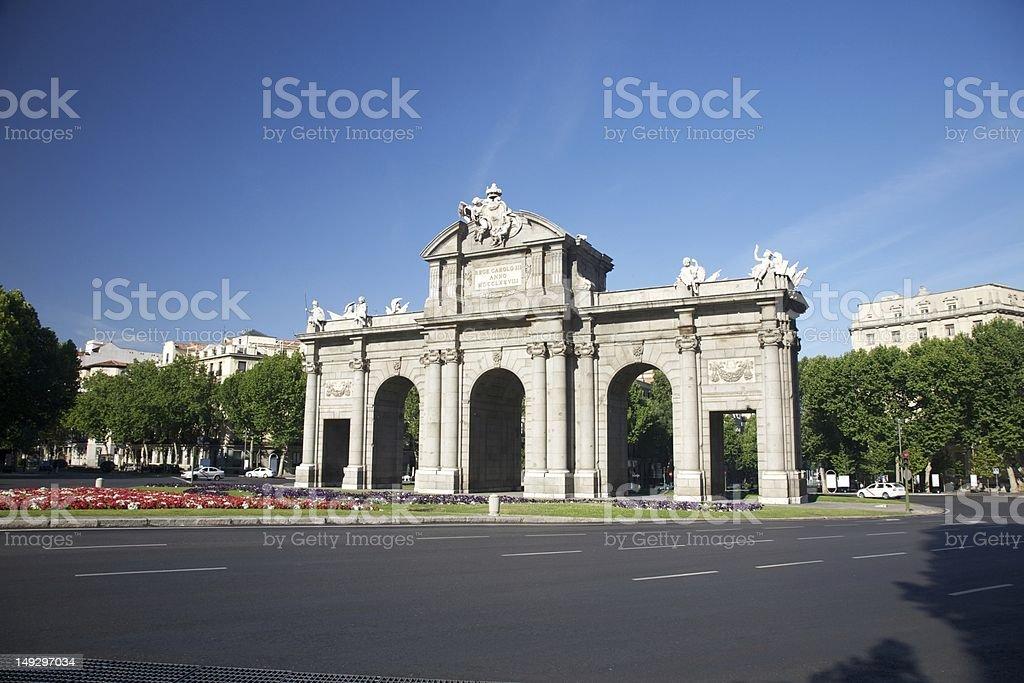 Alcala Gate square stock photo
