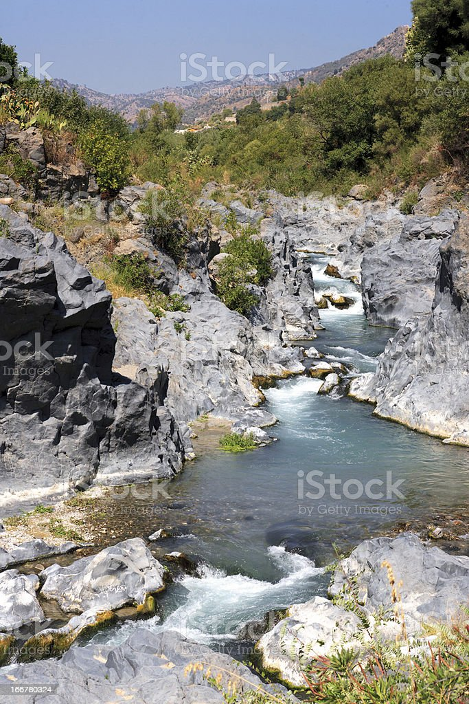 Gole dell'Alcantara stock photo