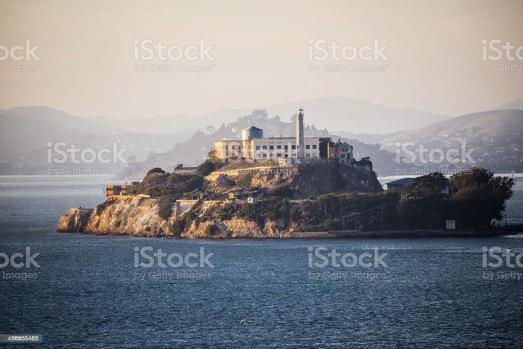 Alcatraz at Dusk San Francisco, California stock photo