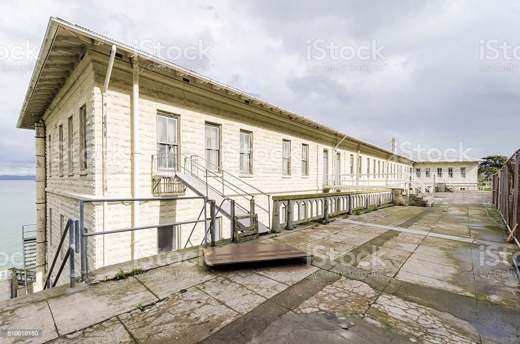 Alcatraz Building 64, San Francisco, California stock photo