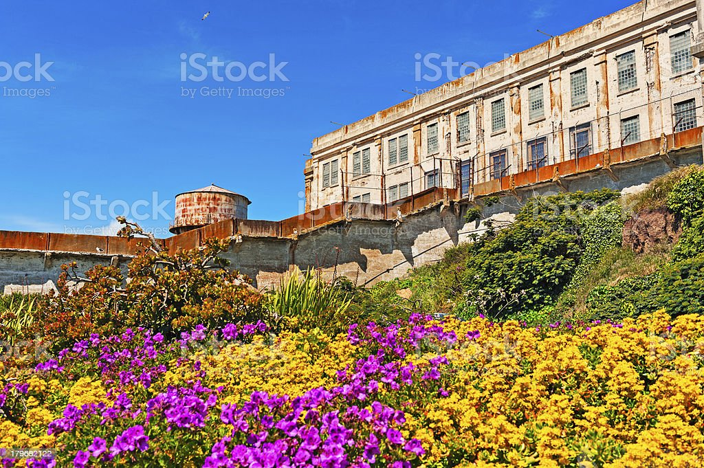 Alcatraz Cell House views with Color royalty-free stock photo