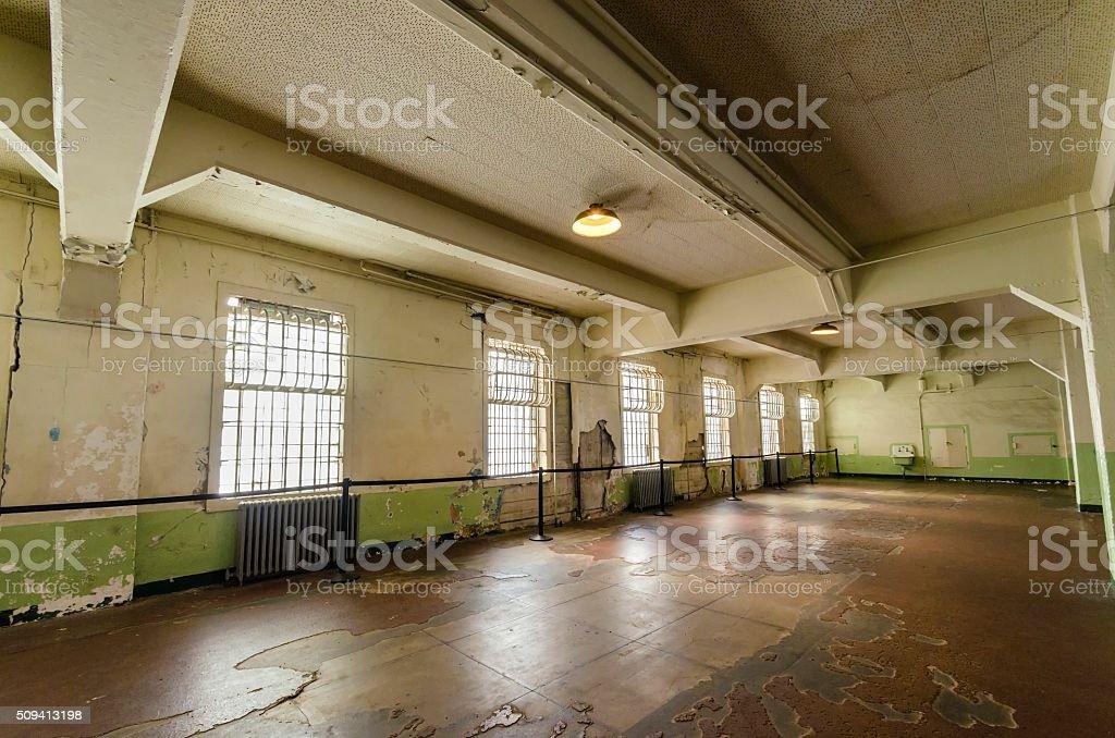 Alcatraz Dining Hall, San Francisco, California stock photo