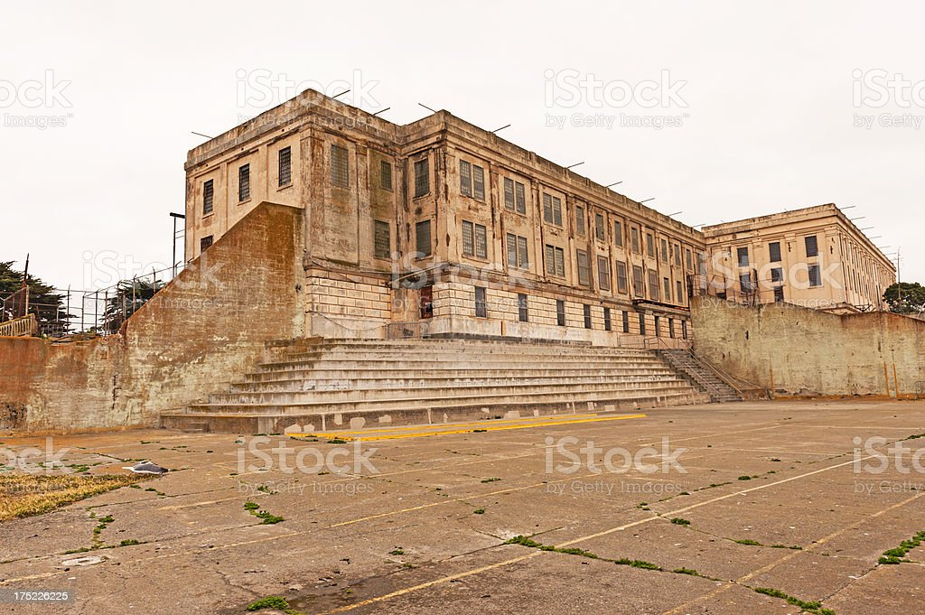 Alcatraz Exercise Yard royalty-free stock photo