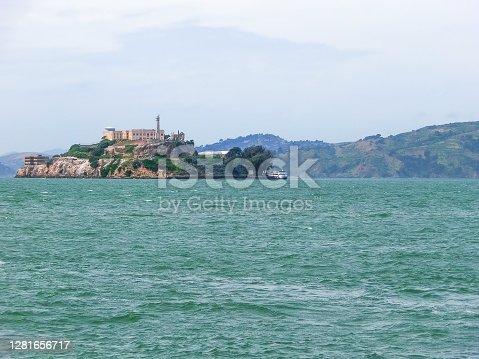 Alcatraz island famous prison in San Francisco at USA