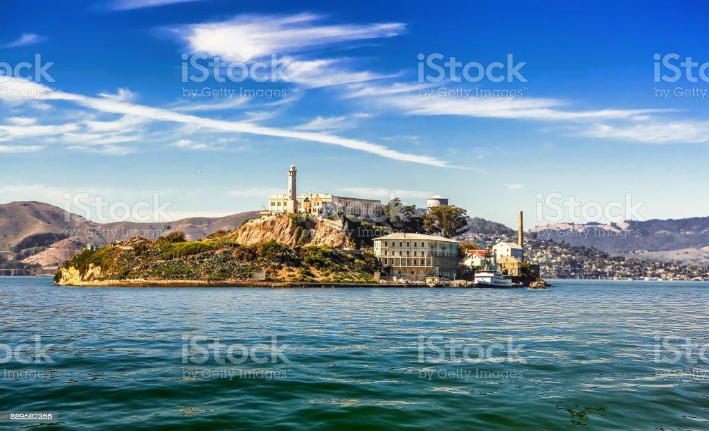 Alcatraz Island in San Francisco stock photo