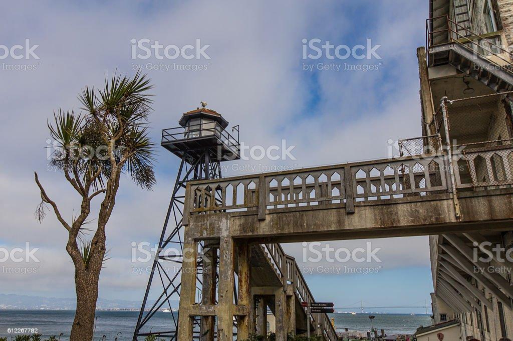 Alcatraz Island prison in San Fransico CA stock photo