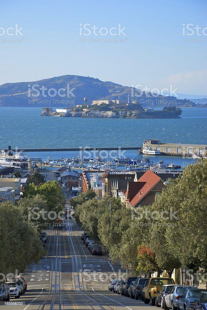 Alcatraz Island & San Francisco stock photo