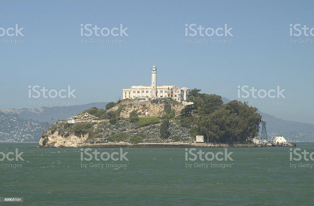 Остров Алькатрас и с юго-востока Стоковые фото Стоковая фотография
