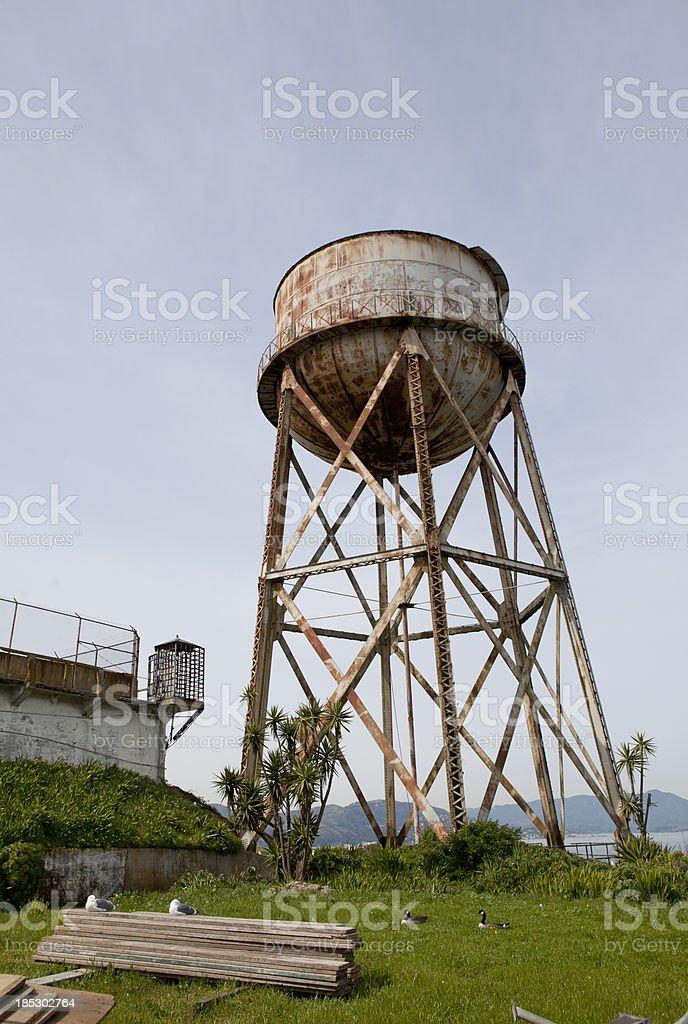 Alcatraz Island Water Tower stock photo