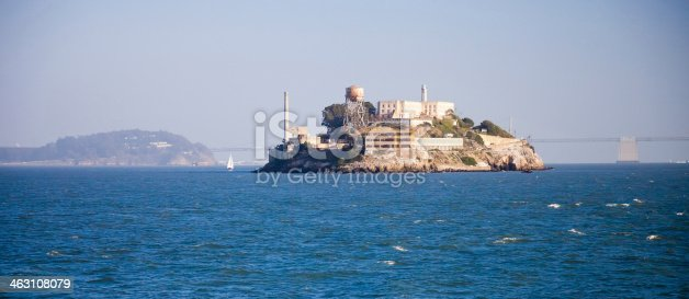 Alcatraz jail in San Francisco bay