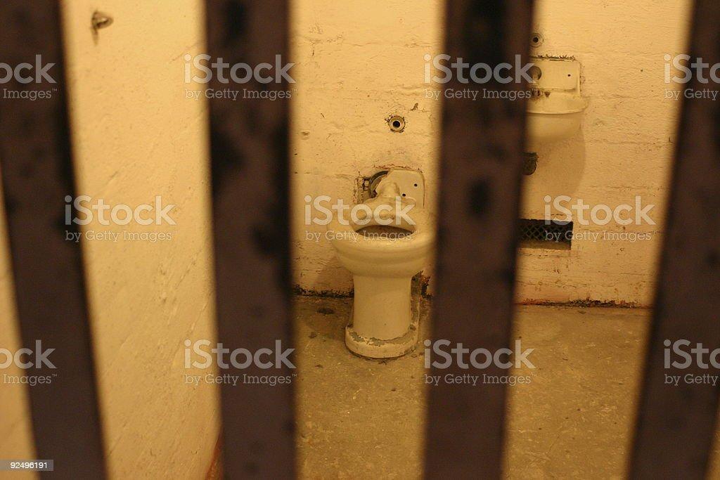 Alcatraz Prison Cell royalty-free stock photo