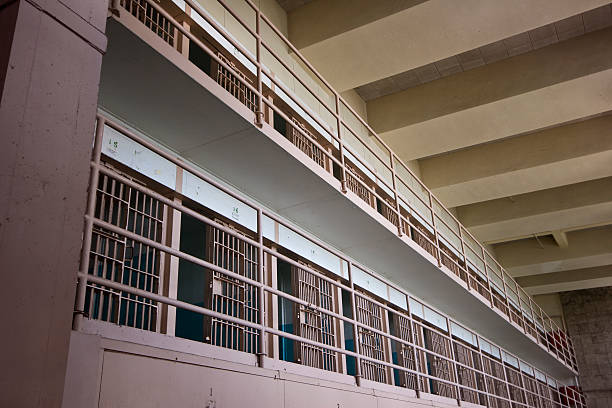 Alcatraz Prison Cells stock photo